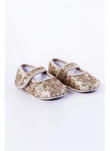 First Step Payetli Babet Bebek Patik  G-2175 Altın
